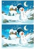 Ejercicio de la Navidad - búsqueda de diferencias Imagen de archivo libre de regalías