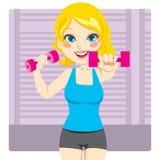 Ejercicio de la pesa de gimnasia libre illustration