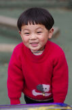 Ejercicio de la toma de la muchacha feliz Fotografía de archivo