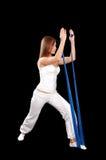 Ejercicio de Pilates Foto de archivo libre de regalías