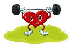 Ejercicio del corazón ilustración del vector