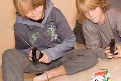 Ejercicio feliz de los niños Foto de archivo