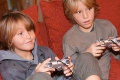 Ejercicio feliz de los niños Fotografía de archivo