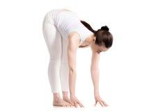 Ejercicio para la flexibilidad de la espina dorsal Imagenes de archivo