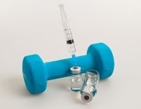 Ejercicio y doping foto de archivo libre de regalías