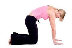 Ejercicios de la yoga Foto de archivo