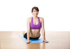 Ejercicios de la yoga imágenes de archivo libres de regalías
