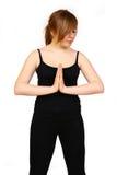 Ejercicios de la yoga de la mujer Imágenes de archivo libres de regalías