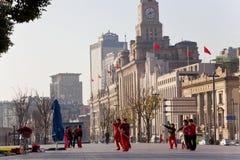 Ejercicios de Tai Chi de la madrugada Fotografía de archivo libre de regalías