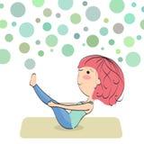 Ejercite para mantener la buena condición física stock de ilustración