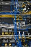 Ejes de la red grande con los cables conectados Fotos de archivo libres de regalías