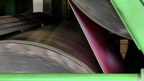 Ejes de rotación en la producción de papel almacen de metraje de vídeo