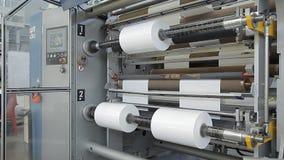 Ejes de rotación en una fábrica almacen de metraje de vídeo