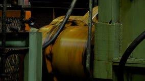 Ejes de rotación de la máquina de la laminación almacen de metraje de vídeo