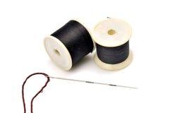 Ejes de rotación y aguja de la cuerda de rosca foto de archivo libre de regalías
