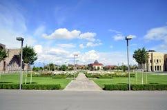 Ejmiacin skola Arkivfoto