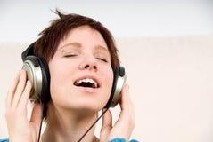 ejoying muzyki Zdjęcie Stock