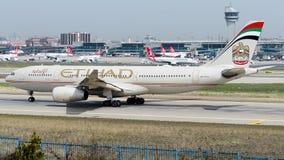 A6-EJY, Etihad Airways, Airbus A330-200 Imagem de Stock