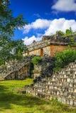Ek Balam玛雅考古学站点 古老玛雅人金字塔和芮 库存照片