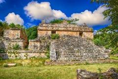 Ek Balam玛雅考古学站点 玛雅人废墟,尤加坦,墨西哥 免版税库存照片