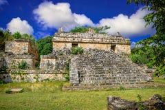 Ek Balam玛雅考古学站点 玛雅人废墟,尤卡坦半岛 免版税库存图片