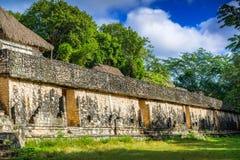 Ek Balam玛雅考古学站点 玛雅人废墟,尤卡坦半岛 免版税库存照片