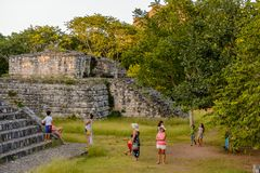 Ek Balam, Yucatec玛雅人考古学站点, Temozon, Yucata 免版税库存图片