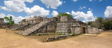 Ek Balam - ancient Maya city. Panoramic view of Ek Balam, ancient Maya city. Yucatan, Mexico royalty free stock photo