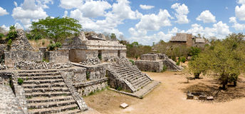 Ek Balam - ancient Maya city. Panoramic view of Ek Balam, ancient Maya city. Yucatan, Mexico royalty free stock images