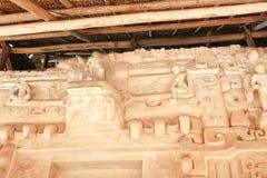 Ek ` Balam, het graf van Ukit Kan Lek Tok Stock Foto's