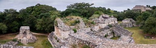Ek Balam, Maya city panoramic view, Yucatan, Mexico stock images