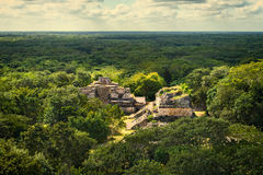 Ek Balam Mayan Archeological Site. Maya Ruins, Yucatan Peninsula Stock Photo