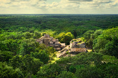 Ek Balam Mayan Archeological Site. Maya Ruins, Yucatan Peninsula Stock Photography