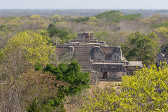 Ek Balam Mayan Temple. One of the mayan temples at the archaeological zone of Ek Balam in Mexico stock photos