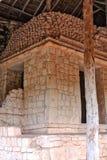Ek`Balam ,The tomb of Ukit Kan Lek Tok. Ek`Balam ,plaster on the tomb of Ukit Kan Lek Tok, a king buried in the side pyramid.Middle Preclassic through the Post Stock Photo
