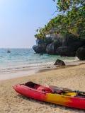 Eka p? den Railay stranden royaltyfri foto