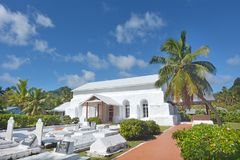 Ekalesia Matavera kock Islands Christian Church Rarotonga Cook I Royaltyfria Bilder