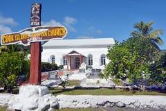 Ekalesia Matavera kock Islands Christian Church Rarotonga Cook I Fotografering för Bildbyråer
