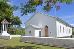 Ekalesia Ngatangiia Kucbarskich wysp kościół chrześcijański Rarotonga Cook Fotografia Royalty Free