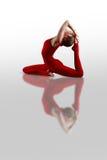 Ekapadaradzhakapotasana yoga Stock Image