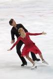 Ekaterina Bobrova and Dmitri Soloviev. MOSCOW, RUSSIA - APR 30: World championship on figure skating 2011. Ekaterina Bobrova and Dmitri Soloviev in pair ice Royalty Free Stock Photography