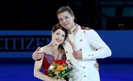 Ekaterina BOBROVA/Dmitri SOLOVIEV (RUS) στοκ εικόνες