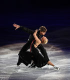 Ekaterina Bobrova / Dmitri Soloviev of Russia. BEIJING-NOV 7: Ekaterina Bobrova / Dmitri Soloviev of Russia perform in the Gala Exhibition event of the SAMSUNG Royalty Free Stock Images