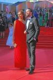Ekaterina Drobysh och Daniil Fedorov Royaltyfri Bild