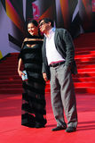 Ekaterina Dvigubskaya and Yegor Konchalovsky at Moscow Film Festival Stock Image