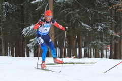 Ekaterina Glazyrina - world cup in biathlon Royalty Free Stock Photography
