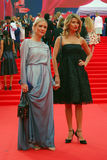 Ekaterina Gordon (l) and Ekaterina Arkharova (r) at Moscow Film Festival Royalty Free Stock Photo