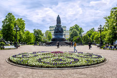 Ekaterina het grote monument Royalty-vrije Stock Foto's