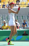 Ekaterina Makarova of Russia in action during women's doubles final of the Rio 2016 Stock Photo