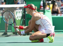 Ekaterina Makarova of Russia in action during women's doubles final of the Rio 2016 Stock Photography